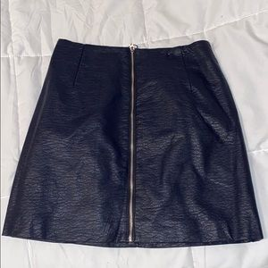 H and M NEVER WORN LEATHER SKIRT